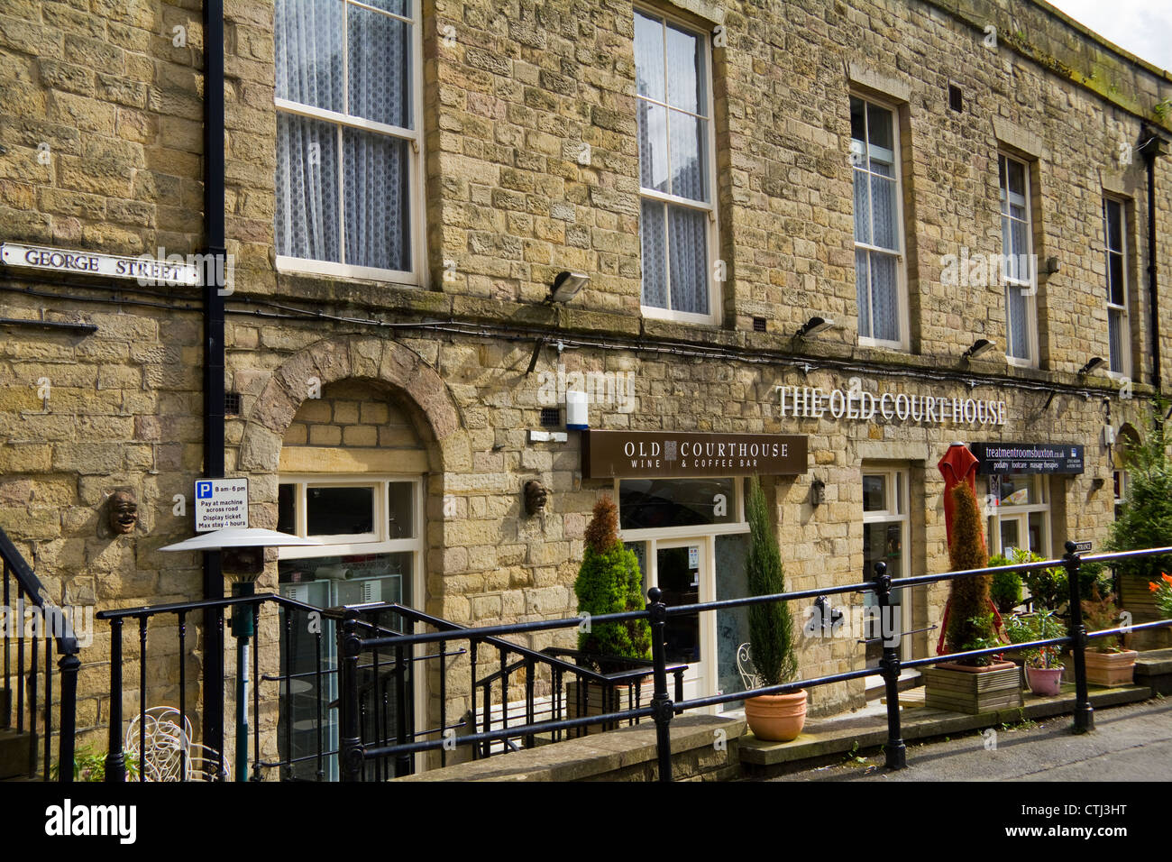 The Old Courthouse in George Street, Buxton town centre, Derbyshire England UK - Stock Image
