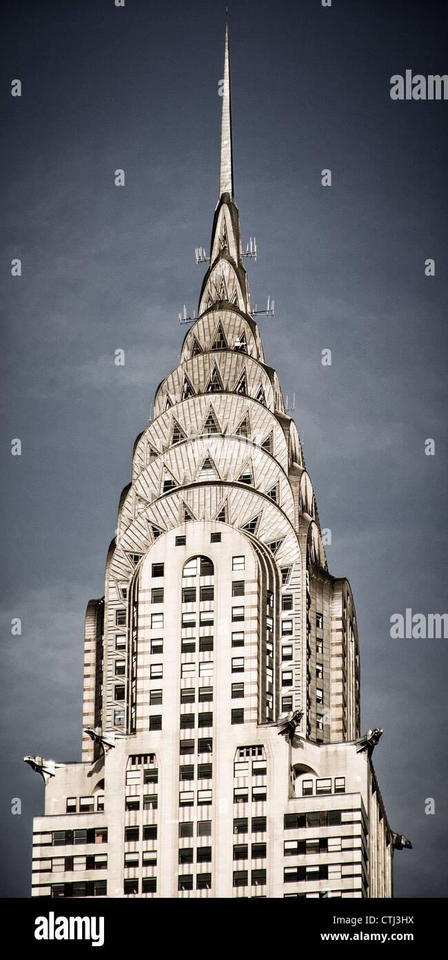 Chrysler building, vertical, New York  - Stock Image