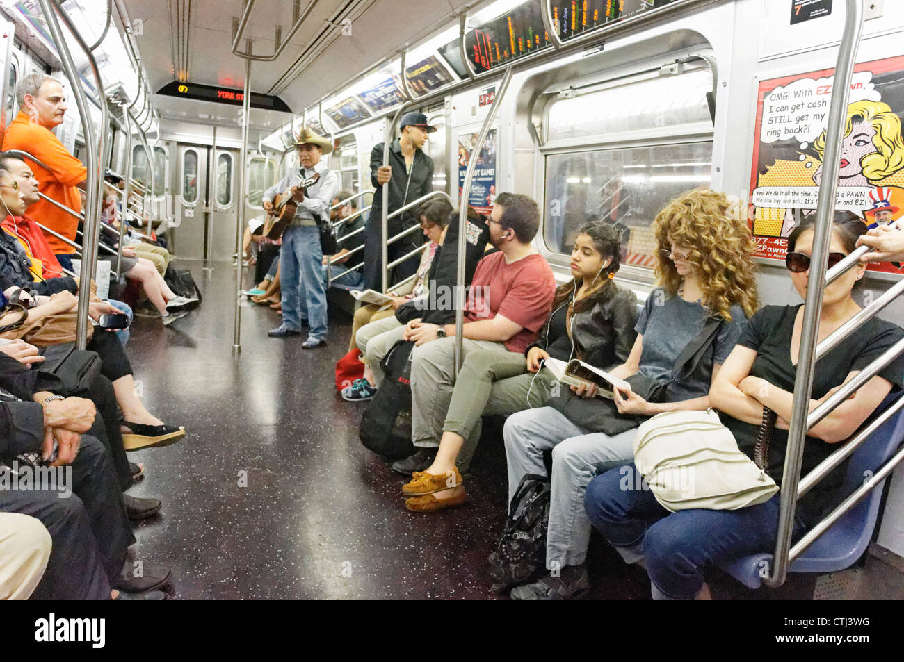People in a Subway Train in New York Stock Photo: 49570684 ...