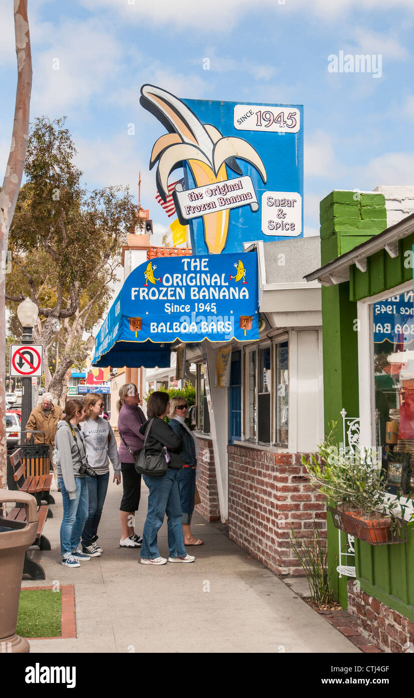 the original frozen banana a dessert treat originated in balboa