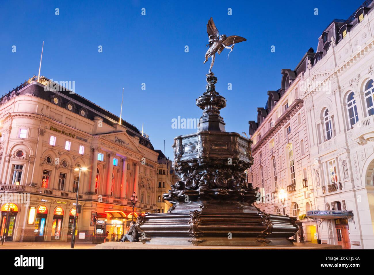 England, London, Soho, Piccadilly Circus, Eros Statue - Stock Image