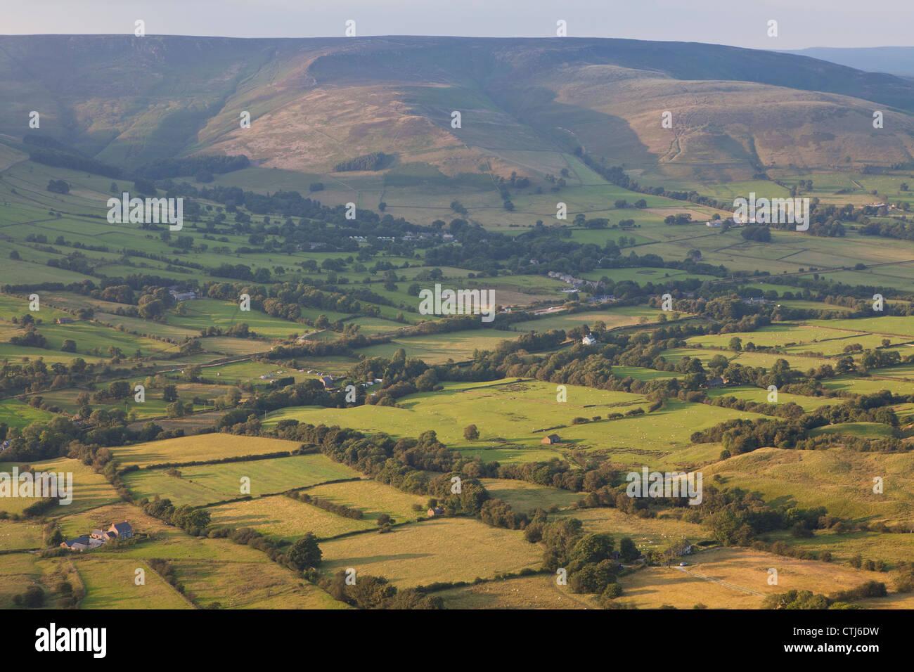 Vale of Edale, Dark Peak, Peak District, Derbyshire, England, UK - Stock Image