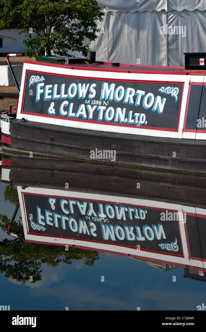 Traditional narrowboat at Braunston Marina, Northamptonshire, UK - Stock Image
