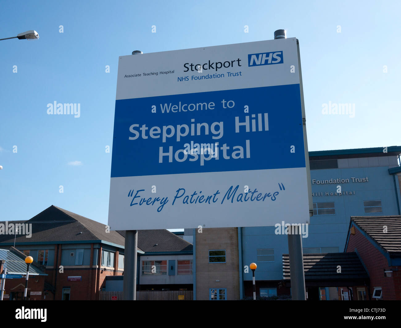 Stepping Hill NHS Hospital, Stockport, Greater Manchester, UK. - Stock Image