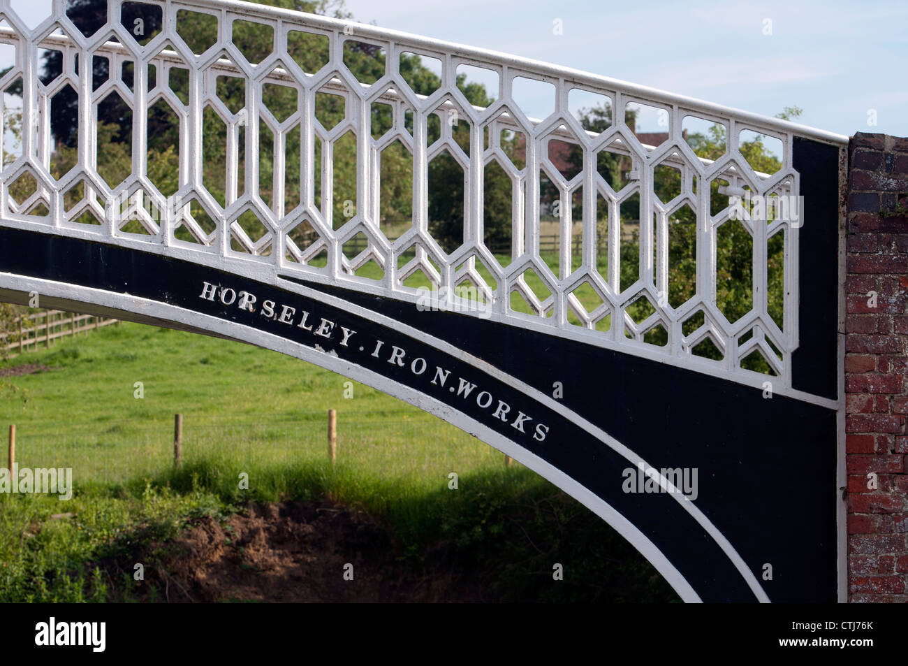 Canal bridge at Braunston Marina, Northamptonshire, UK - Stock Image