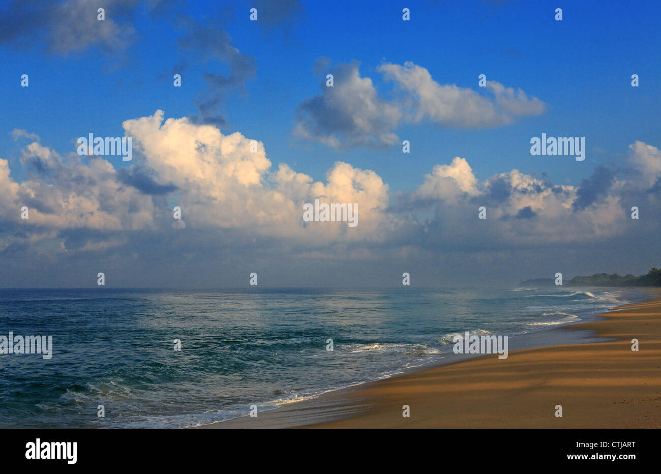 Deserted tropical beach in south Sumatra, Indonesia. - Stock Image