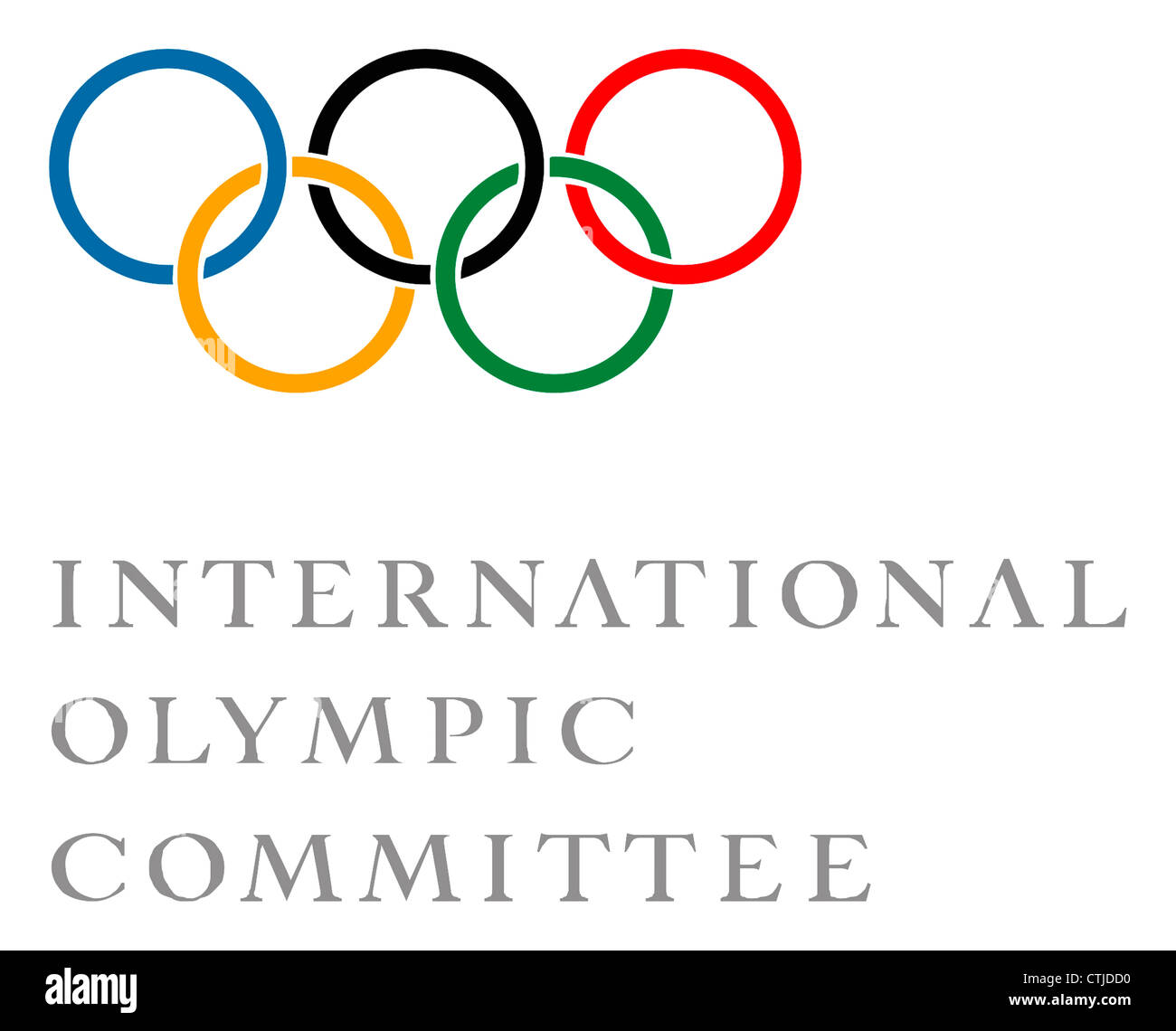 Logo of the International Olympic Committee IOC. - Stock Image