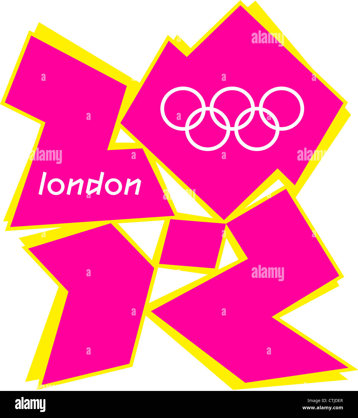 Logo of the Olympic Games 2012 in London. - Stock Image