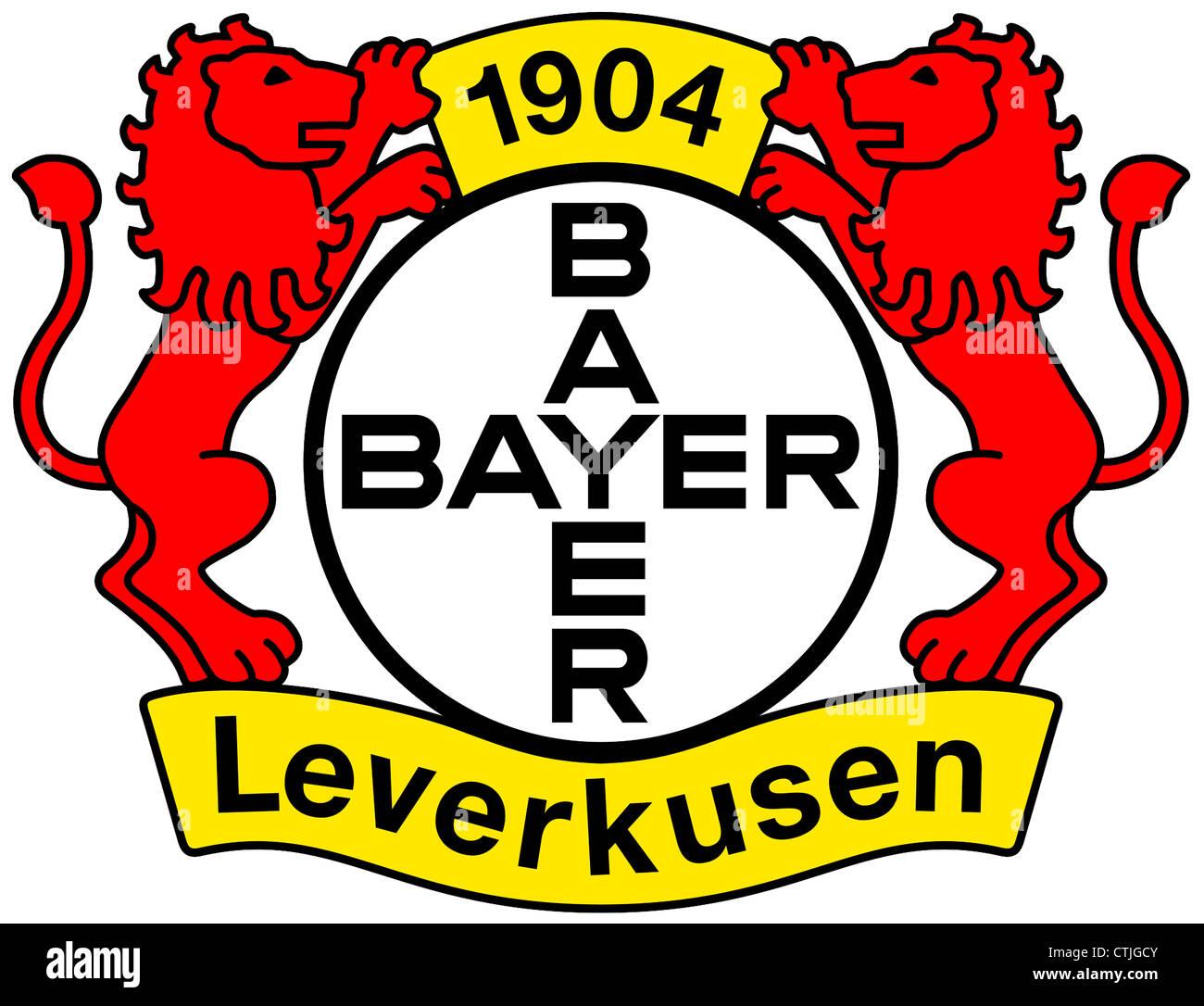 Logo of German football team Bayer 04 Leverkusen. - Stock Image