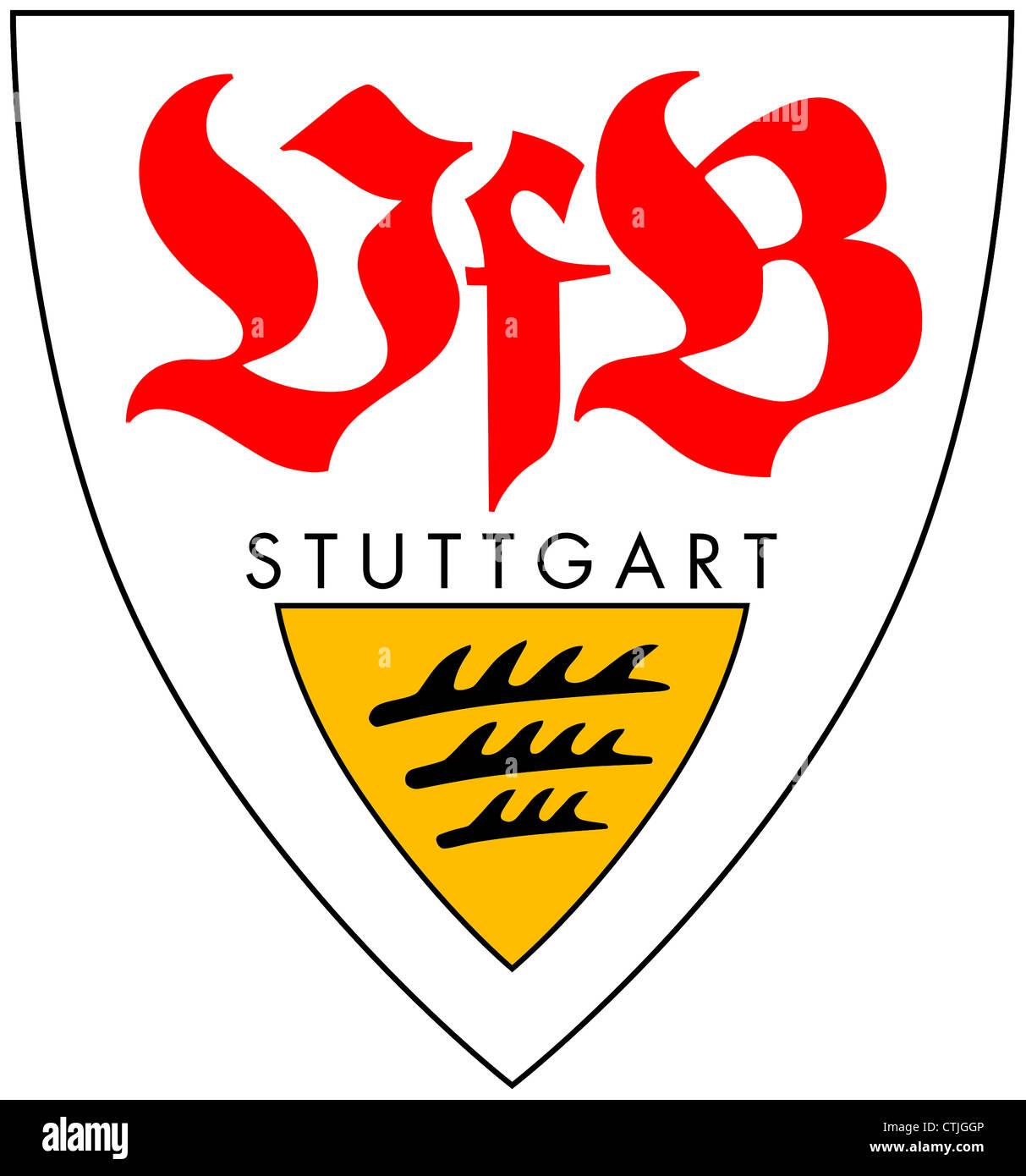 Logo of German football team VfB Stuttgart. - Stock Image