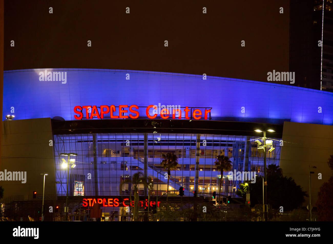 Los Angeles, California - The Staples Center. - Stock Image