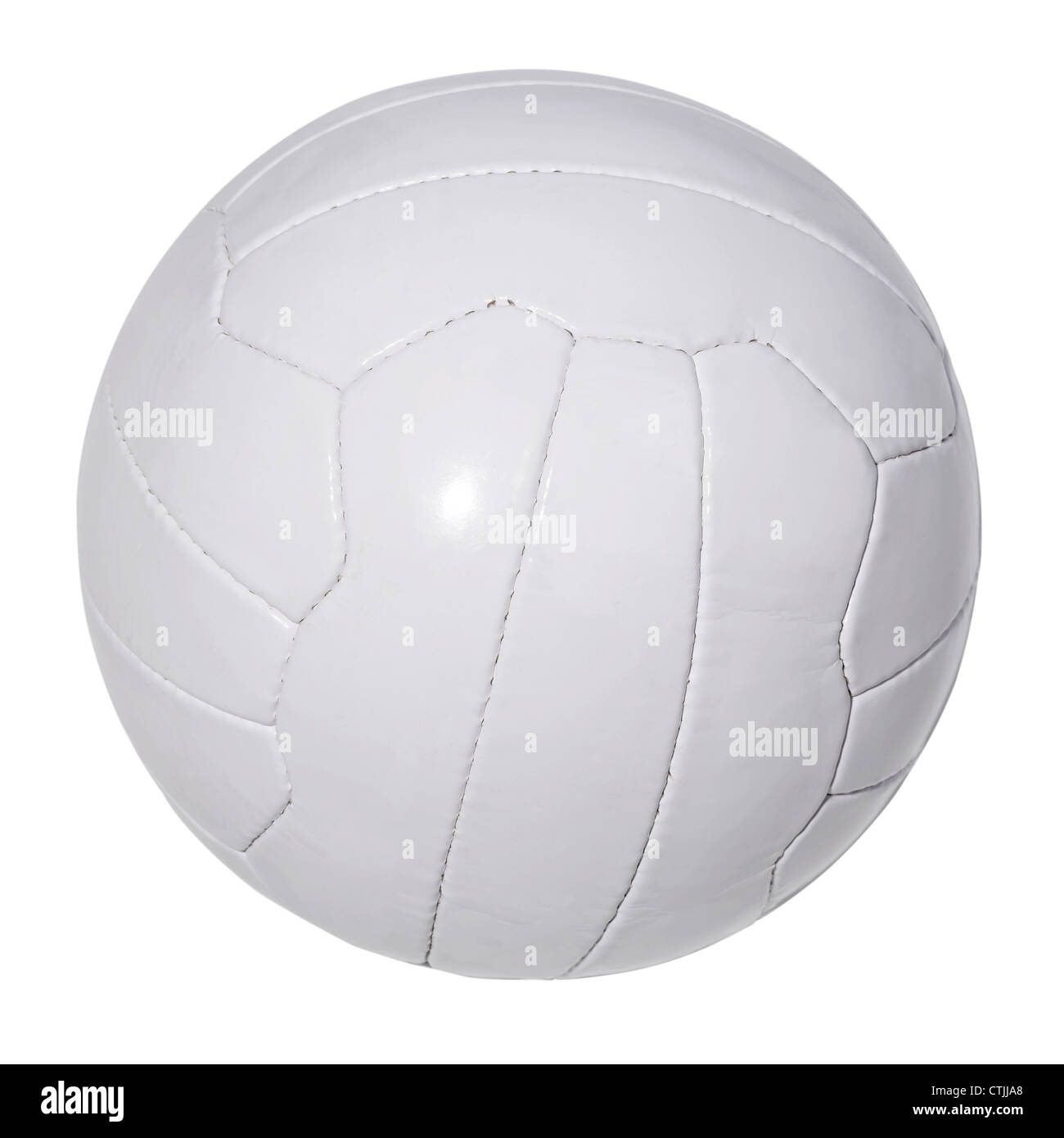 White leather football - Stock Image