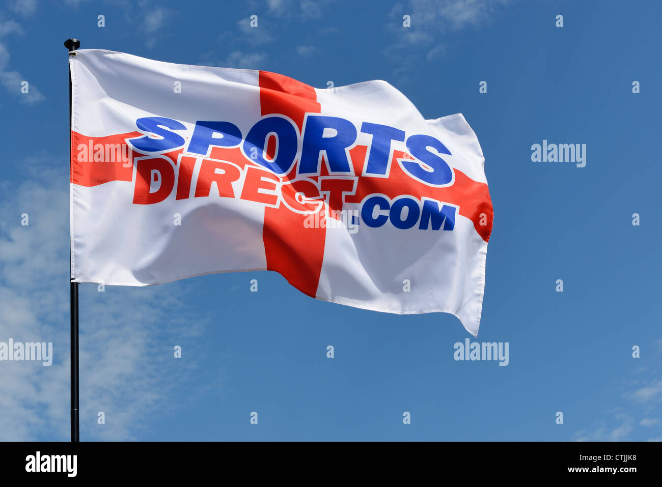 Sports Direct St George flag logo - Stock Image