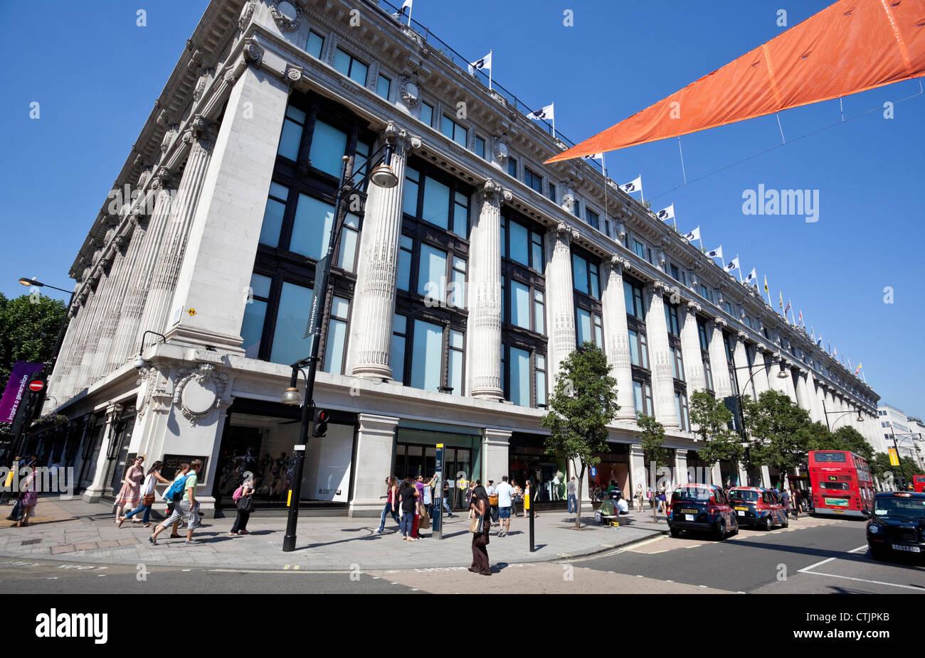 Selfridges Oxford Street store, London, England, UK - Stock Image