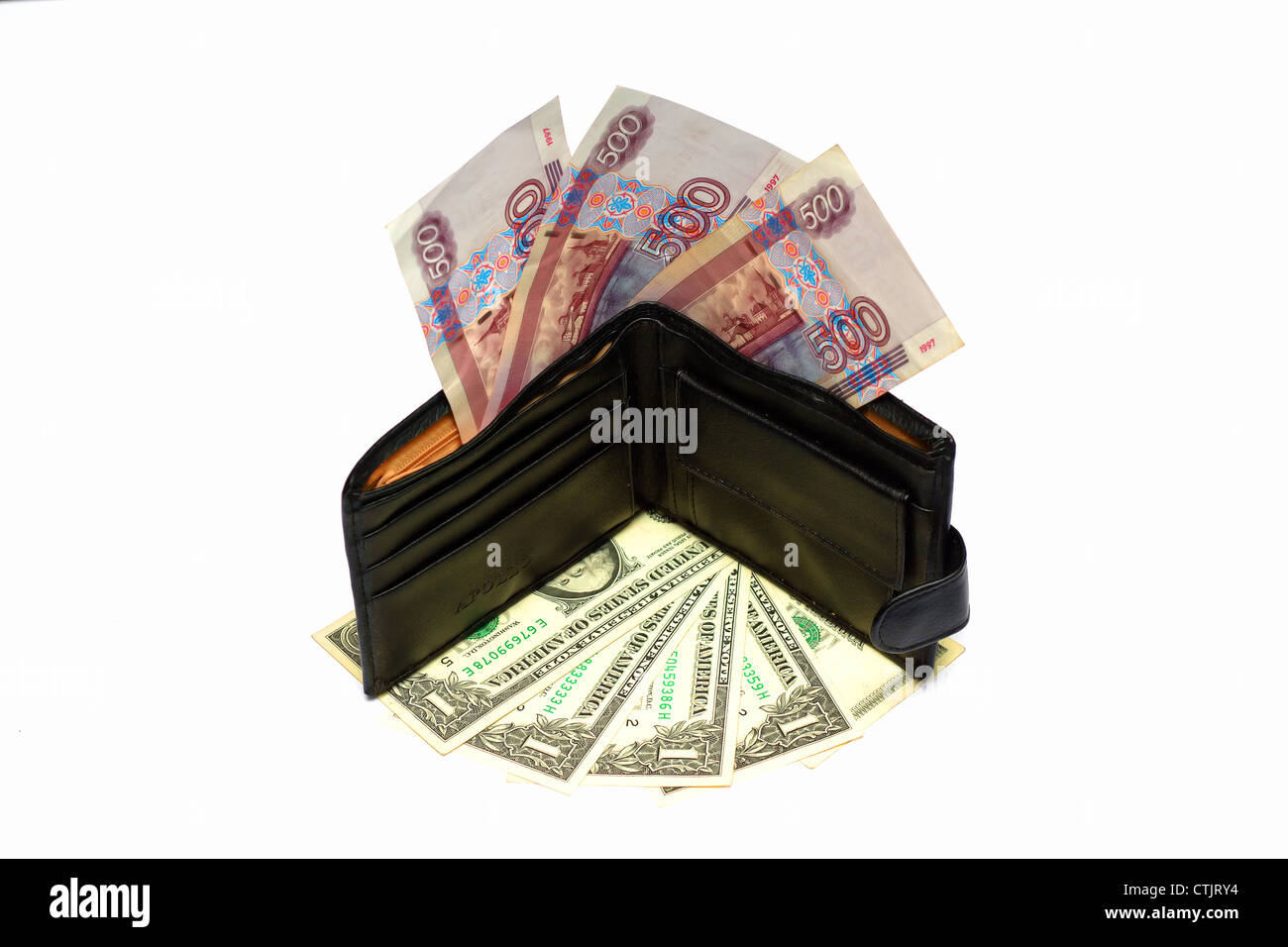 Inflation and world crisis influence parities between currencies - Stock Image