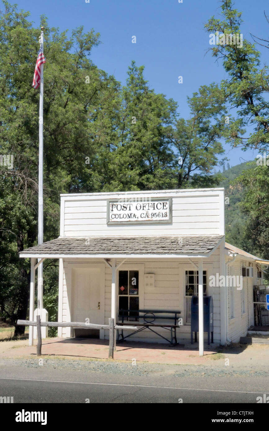 Coloma California Post Office sight of the California Gold strike, Marshall State Park - Stock Image
