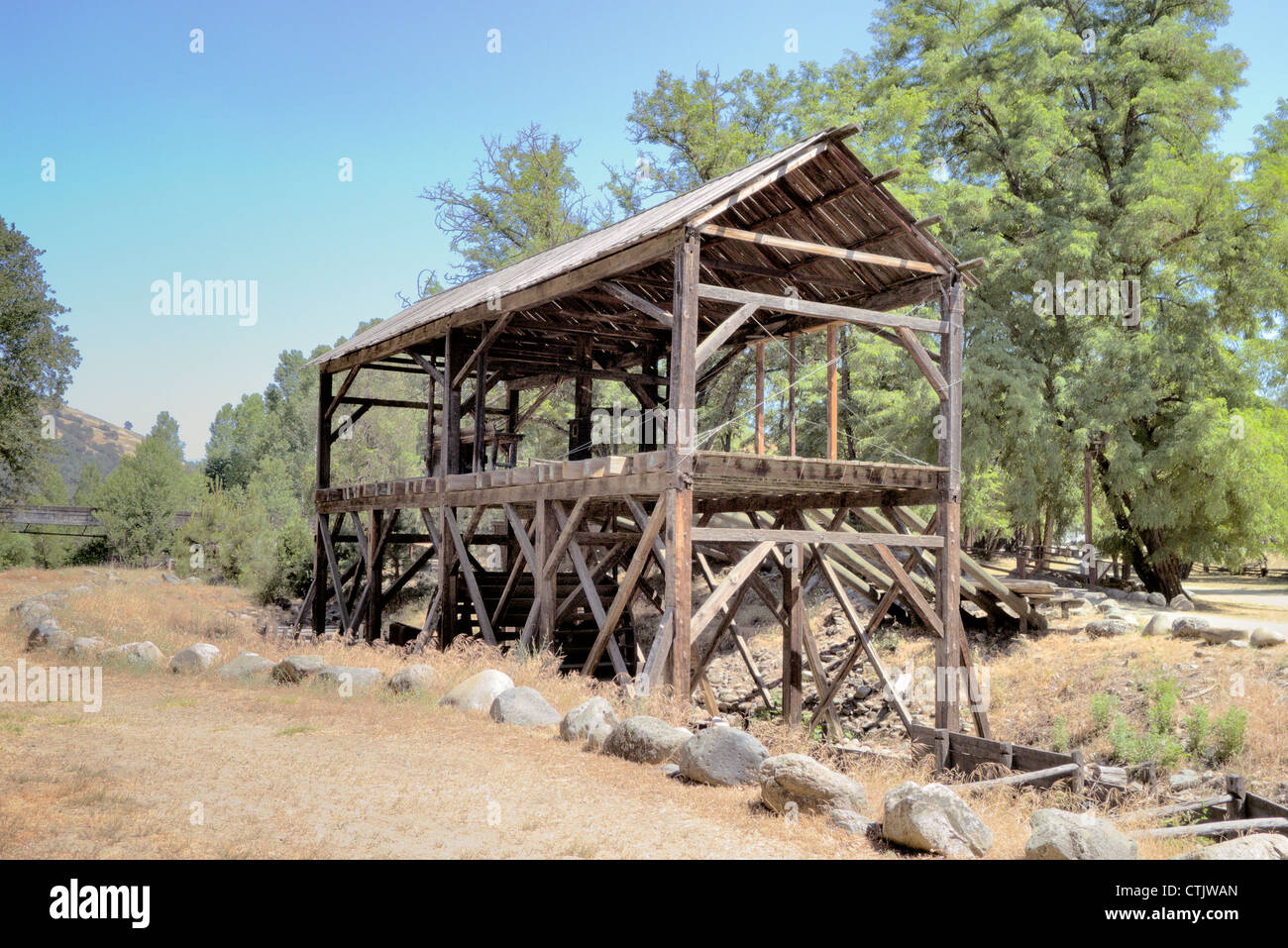 Sutter's Mill sight of the California Gold Strike, Marshall State Park - Stock Image