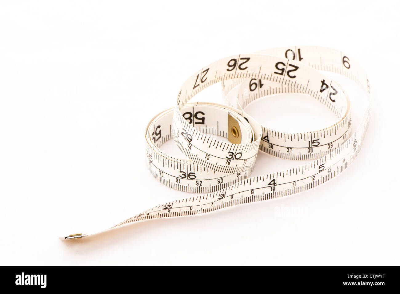 Dressmaker's metric and imperial tape measure - Stock Image