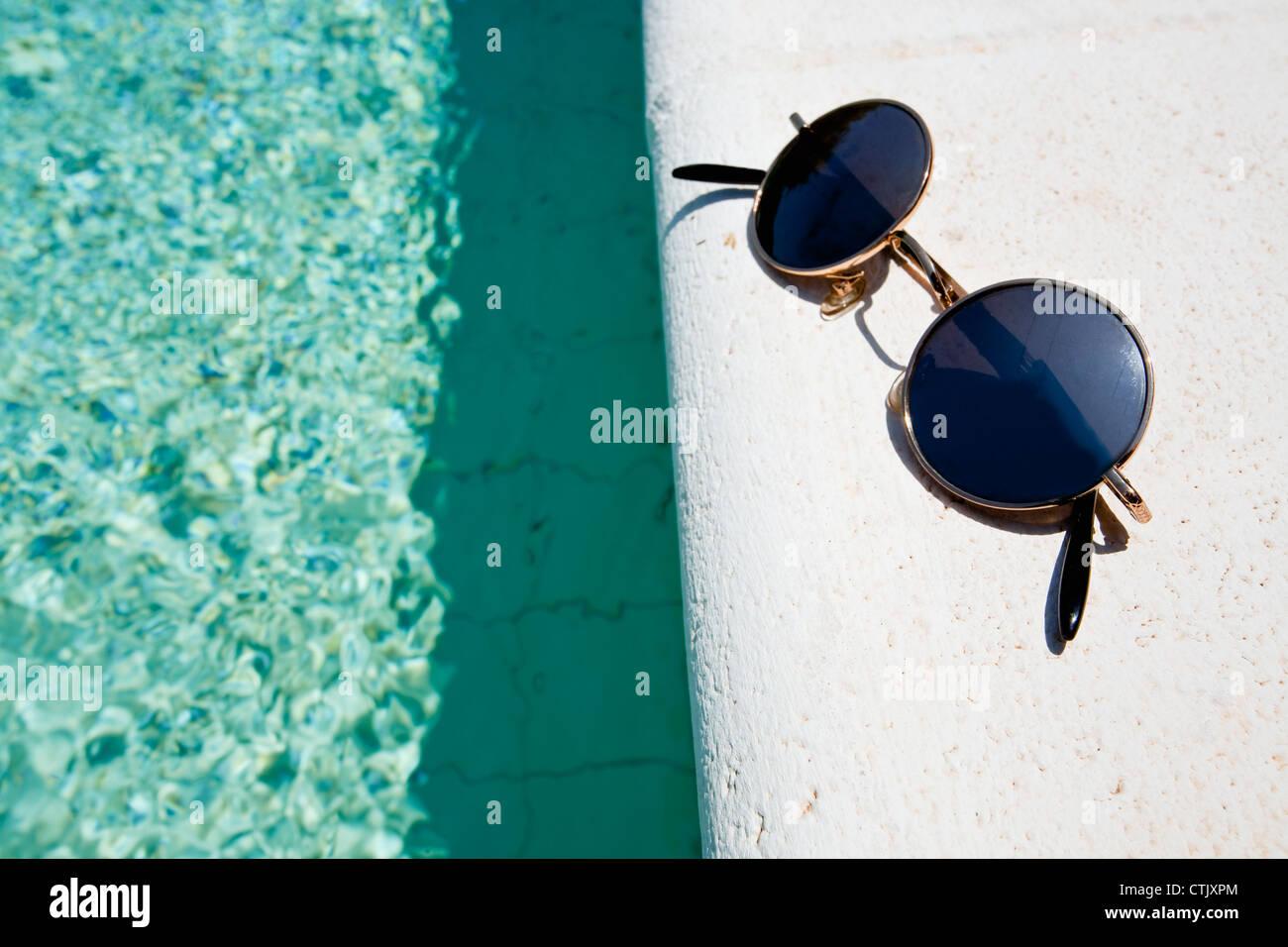 52674b1783b Black Round Sunglasses Stock Photos   Black Round Sunglasses Stock ...