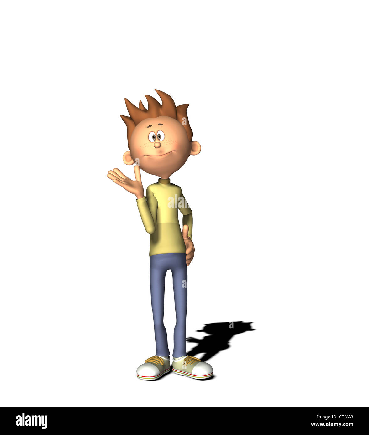 cartoon figure boy - Stock Image