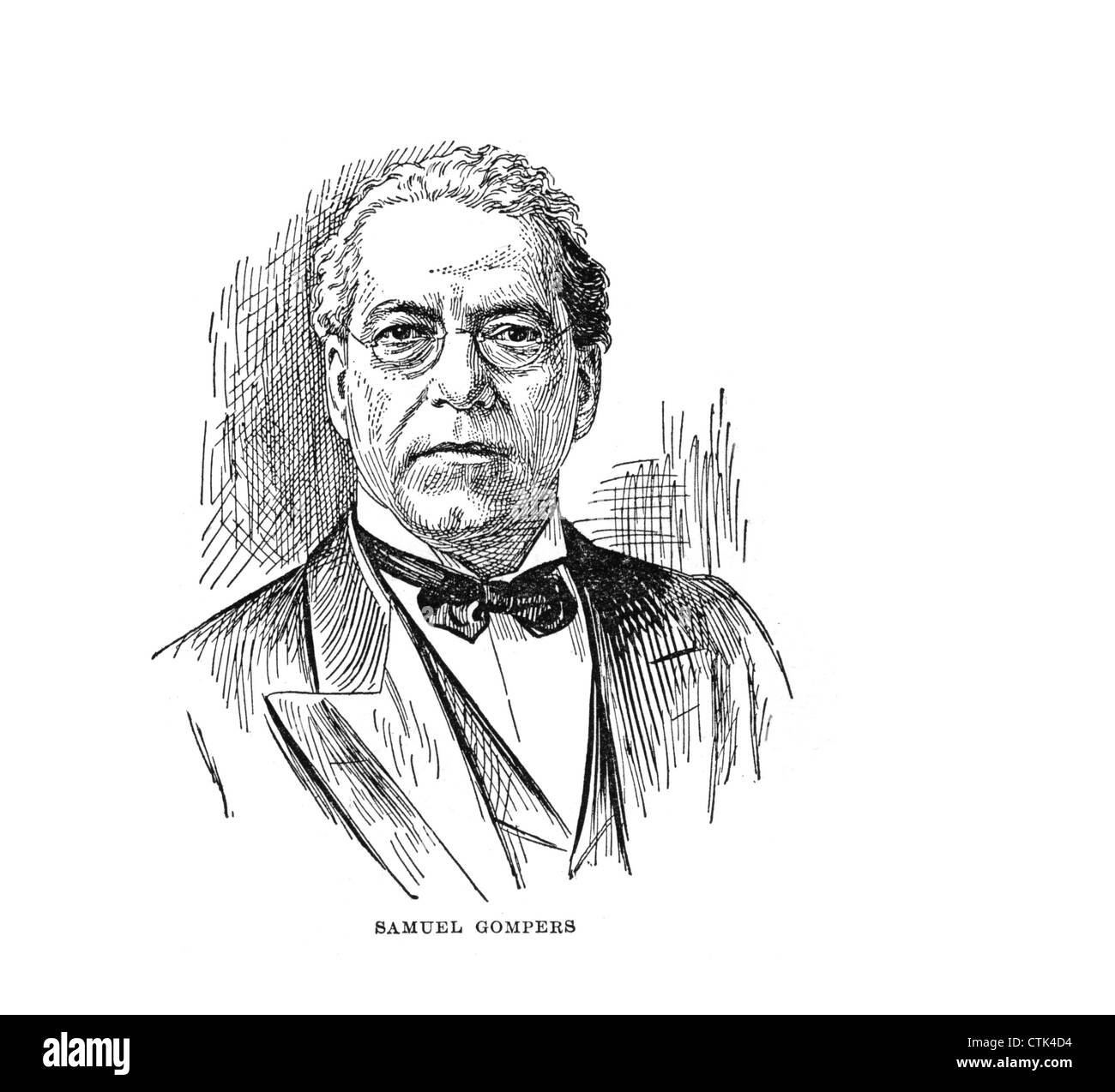 Samuel Gompers, (January 27, 1850 – December 13, 1924) English-born American cigar maker who became a labor union Stock Photo