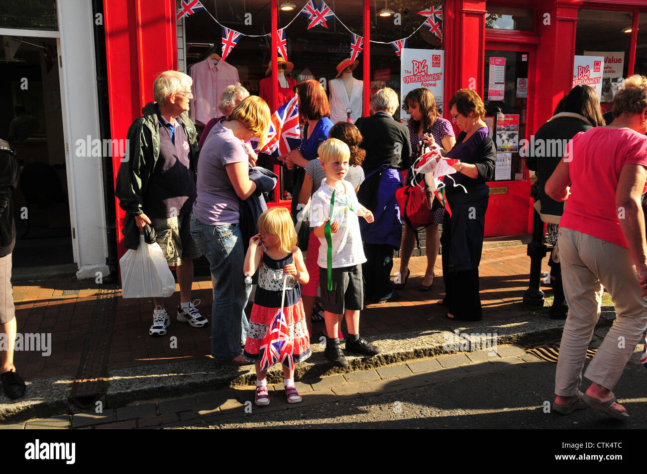 Olympic Torch Relay, Godalming - Stock Image