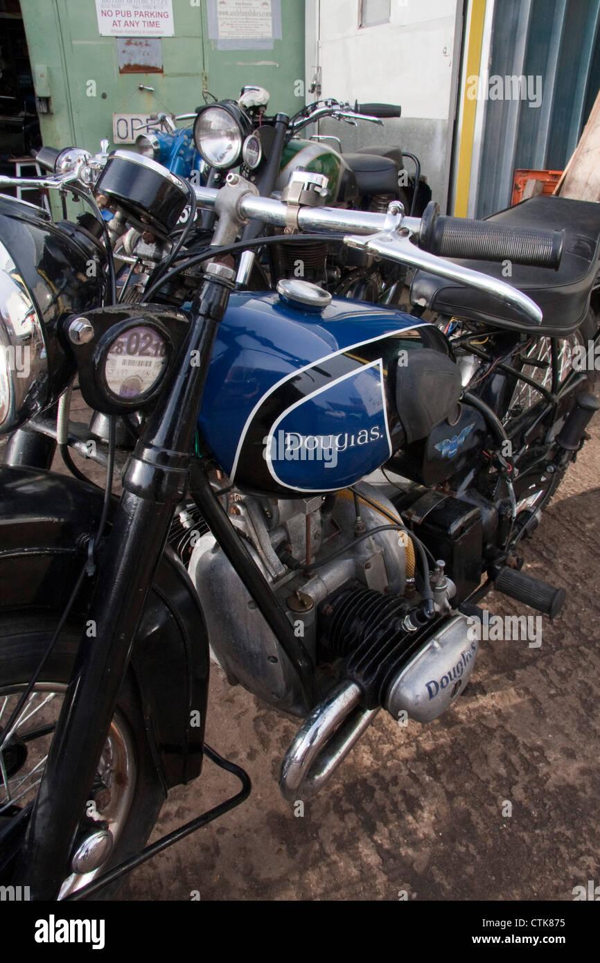 Douglas Vintage Motorcycle Stock Photos & Douglas Vintage Motorcycle ...