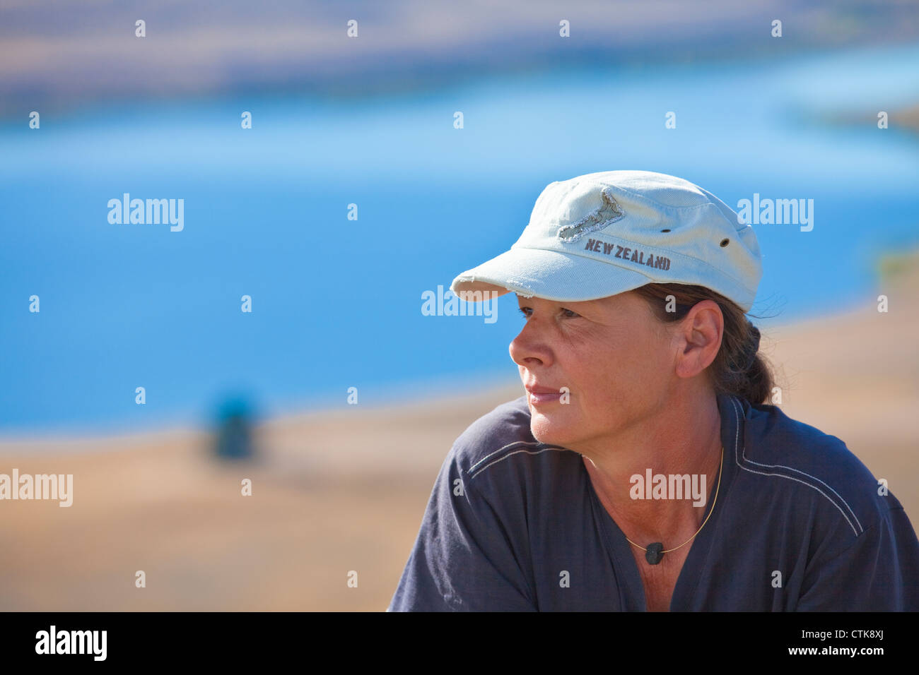 woman with Newzealand cap - Stock Image