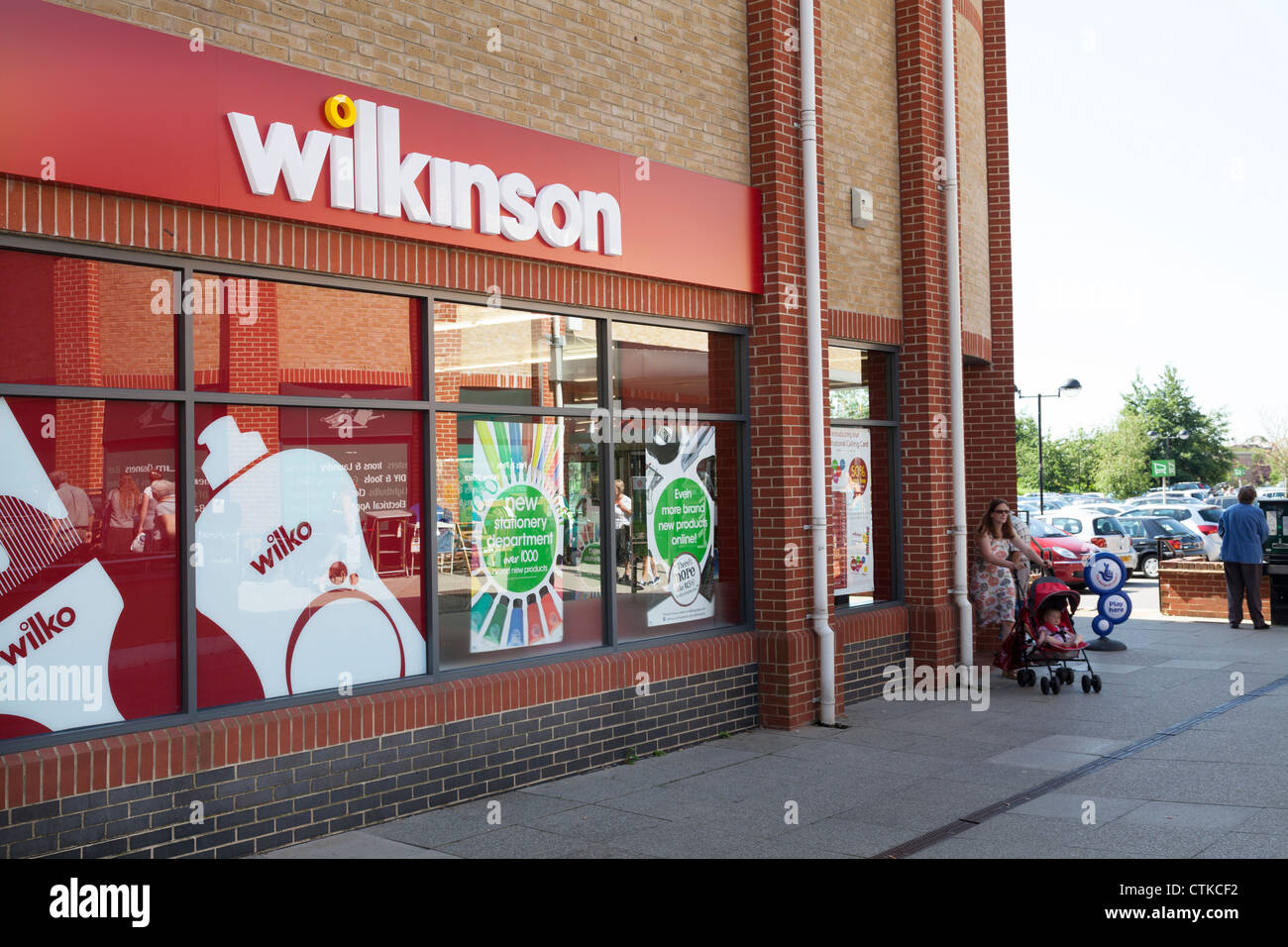 Wilkinsons shop front in city - Stock Image