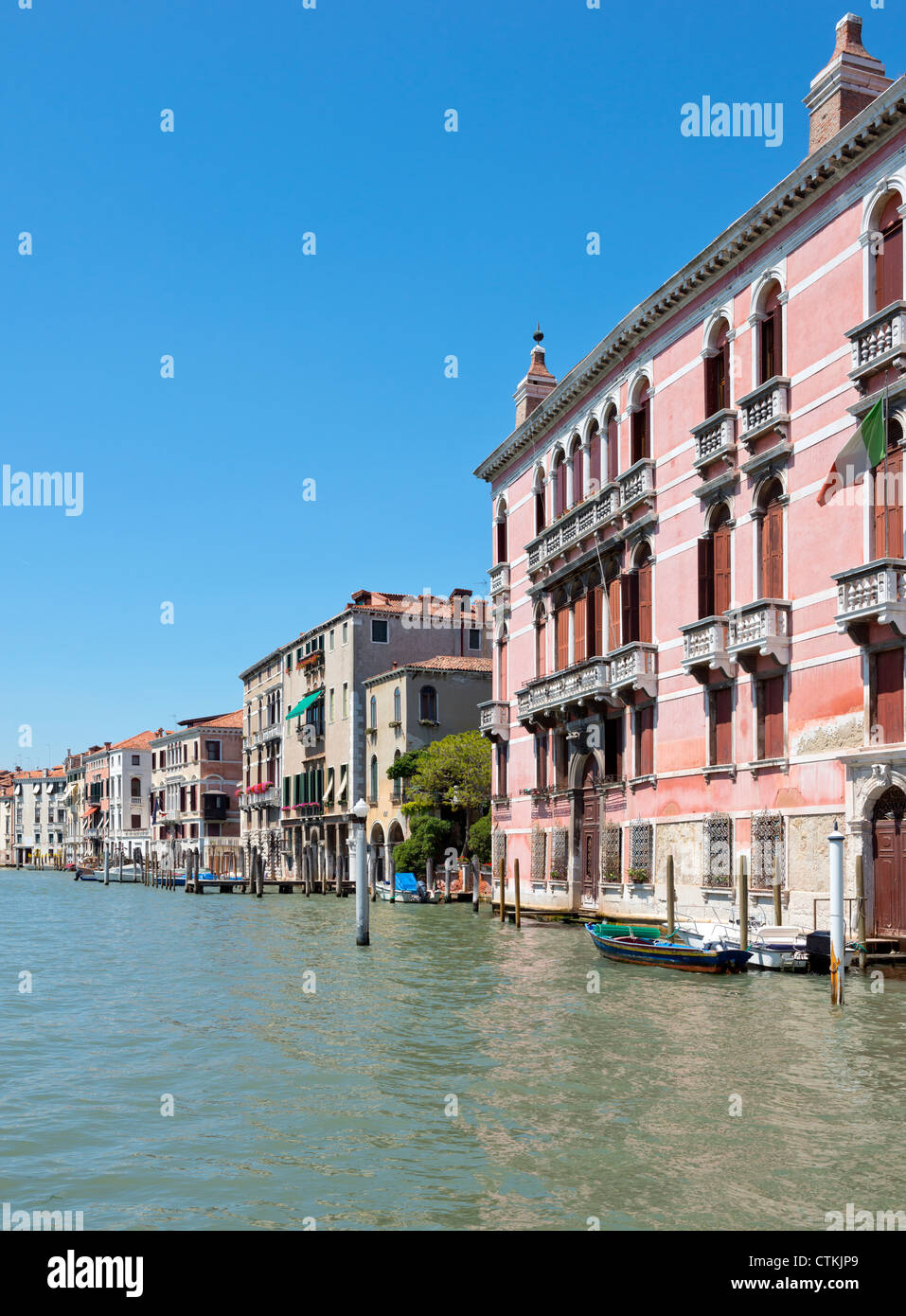 Cityscape of Venice taken on the Grand canal Italy Stock Photo