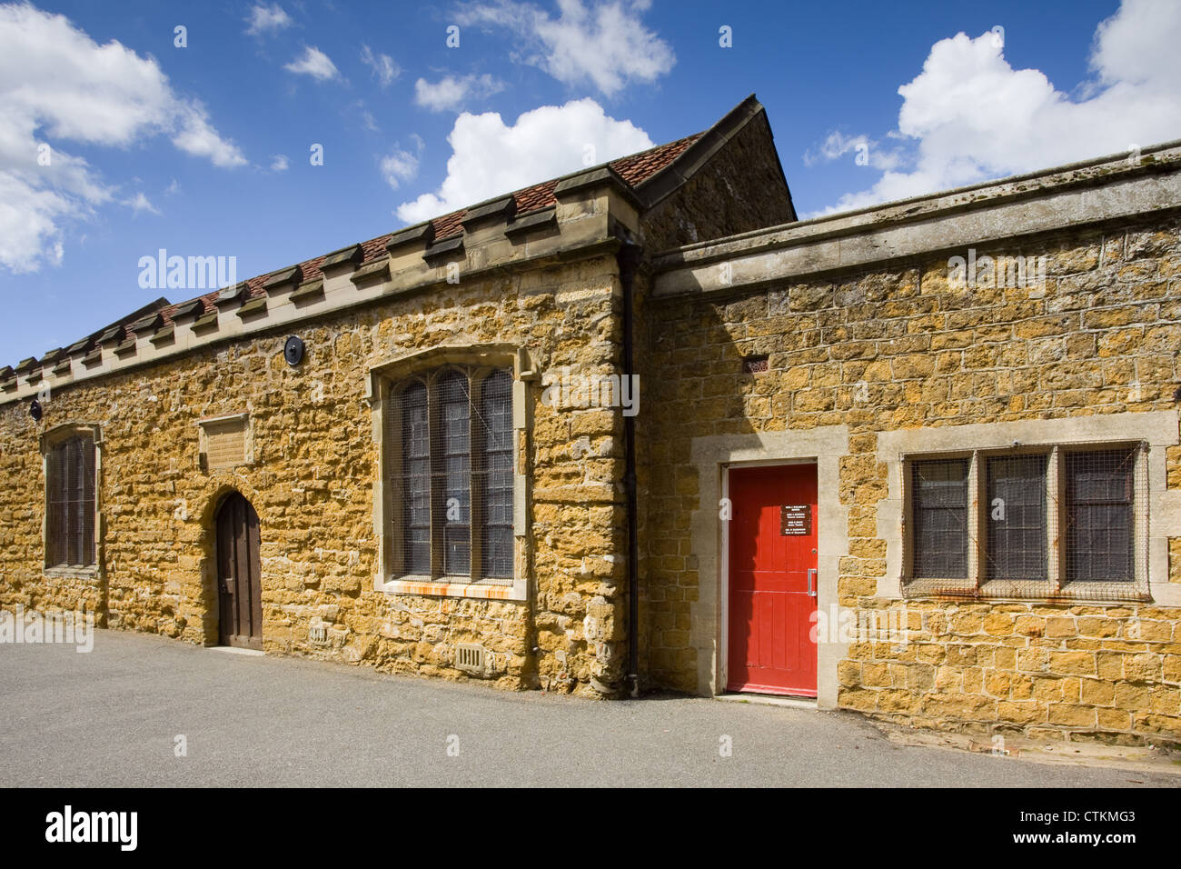 The Grammar School in the market town of Caistor on the edge of the Lincolnshire Wolds - Stock Image