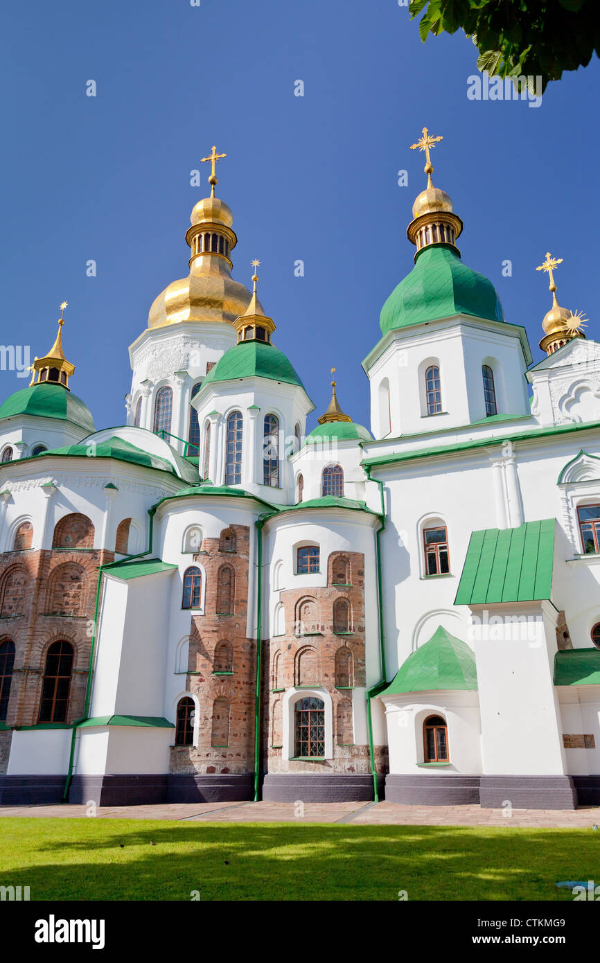 Saint Sophia Cathedral in Kiev, Ukraine in summer day - Stock Image