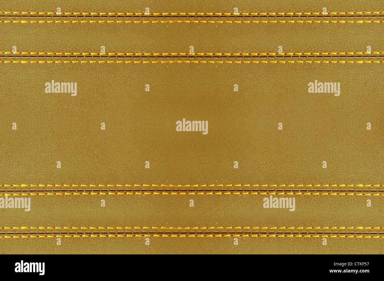 Golden Horizontal Stitched Leather Background Art Wallpaper