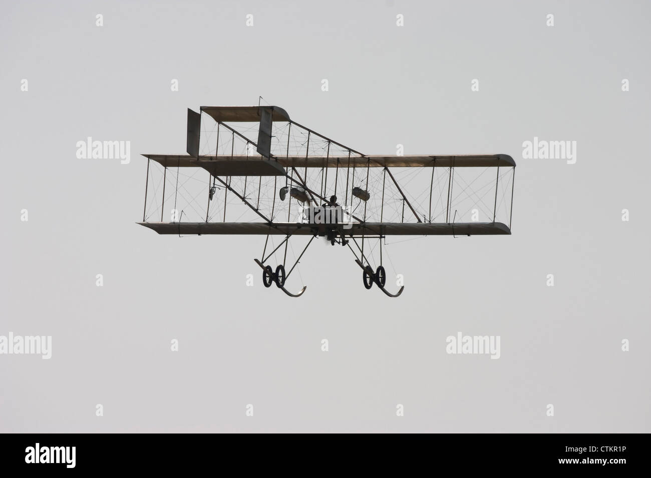 Farman Biplane Stock Photos and Images