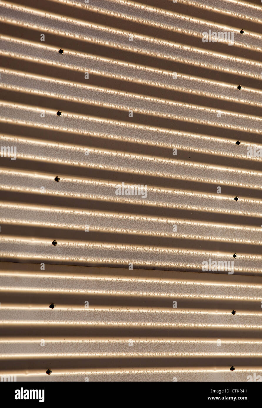 Frosty corrugated steel wall ( CGI ) - Stock Image