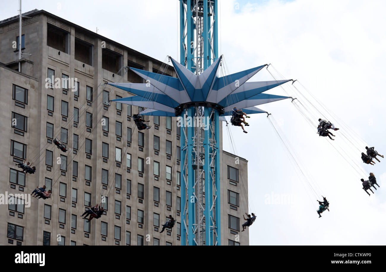 Star Flyer Fairground Ride on Londons South Bank Stock Photo