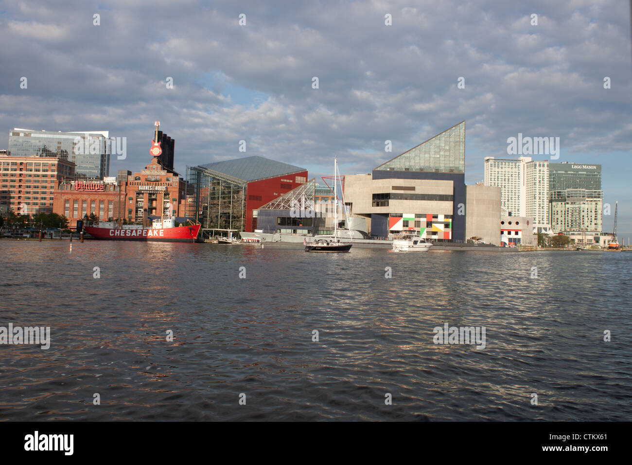 Baltimore Harbor Waterfront - Stock Image