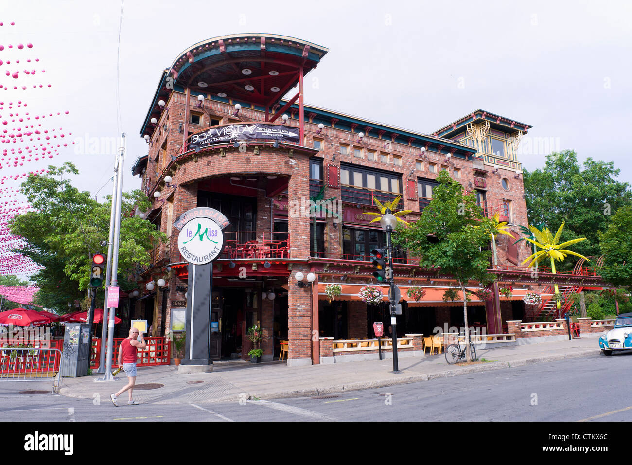 'Le Milsa' restaurant, Gay village, Montreal, province of Quebec, Canada. - Stock Image