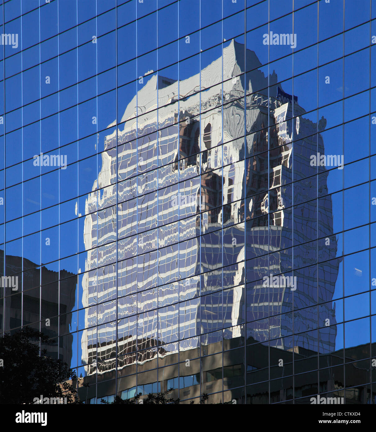 Canada, Quebec, Montreal, skyscraper, reflexion, - Stock Image