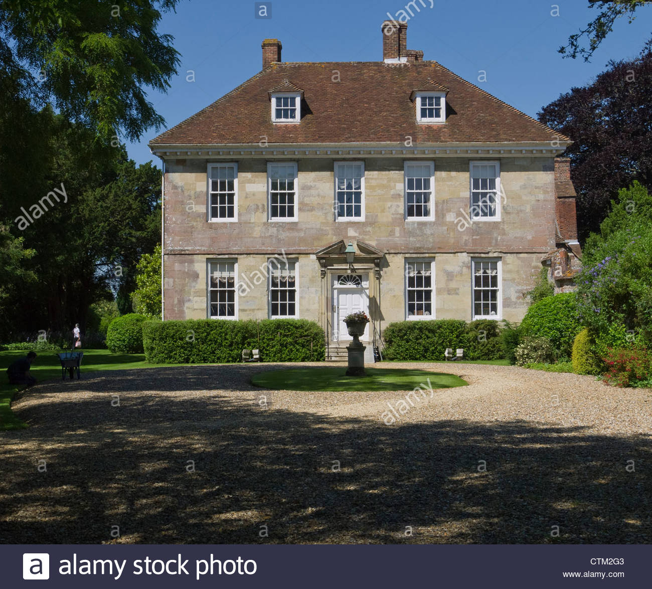 The Rt Hon Sir Edward Heath KG MBE Prime Minister 1970-1974 Lived Here at Arundells Salisbury Wiltshire England - Stock Image