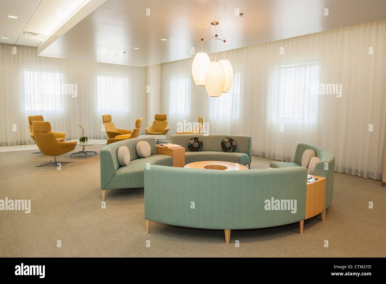 A beautiful and modern waiting room of the Los Angeles Center for Womens Health at California Hospital Medical Center. - Stock Image