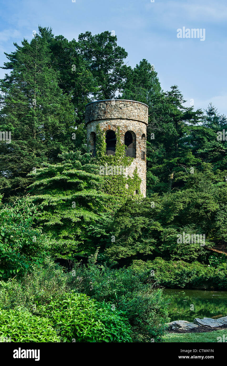 Chimes Tower Carillon, Longwood Gardens, Kennet Square, Pennsylvania, USA - Stock Image