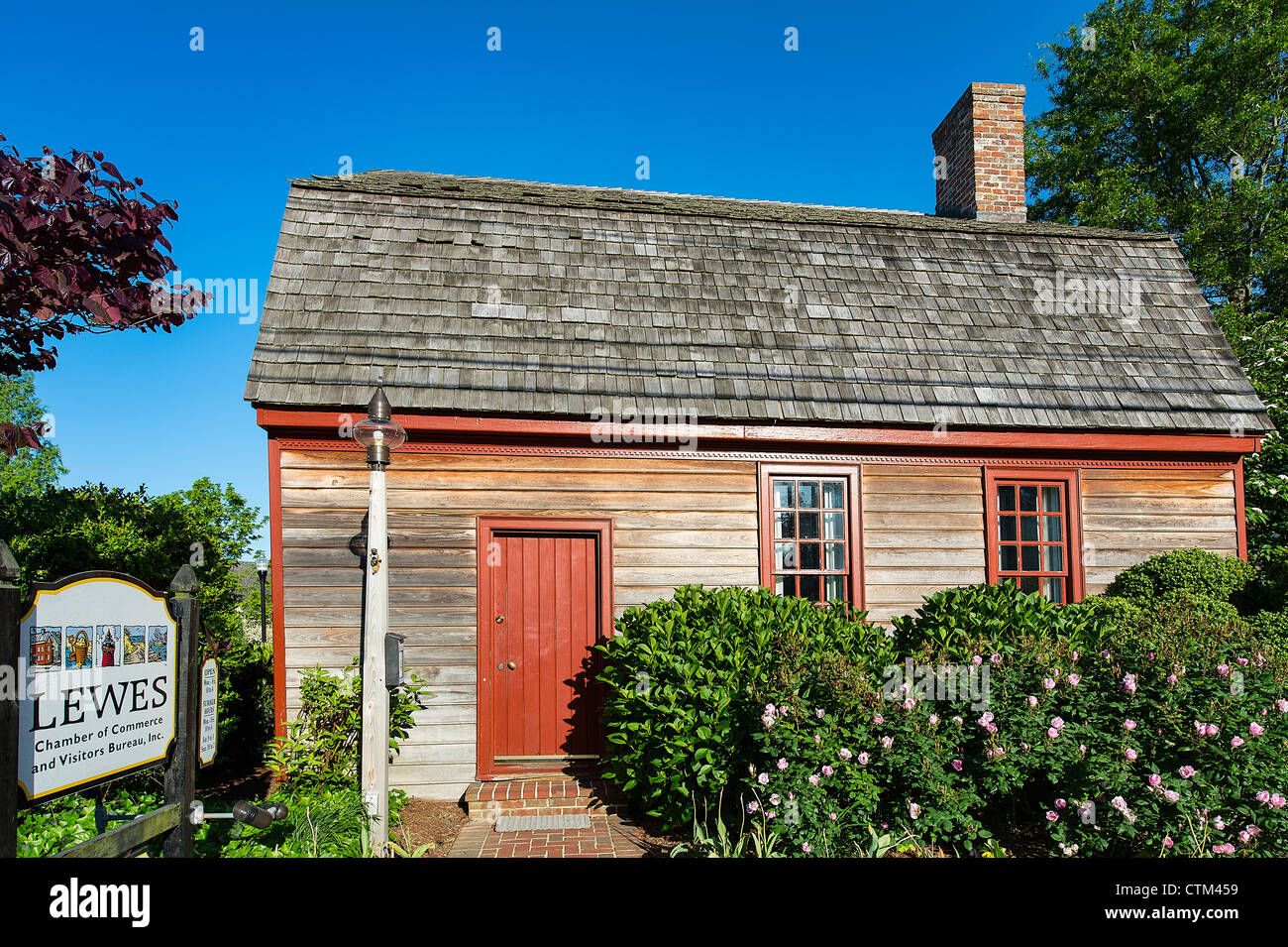 The Fisher Martin House, now the site of the Chamber of Commerce and Visitors Bureau's, Lewes, Delaware - Stock Image
