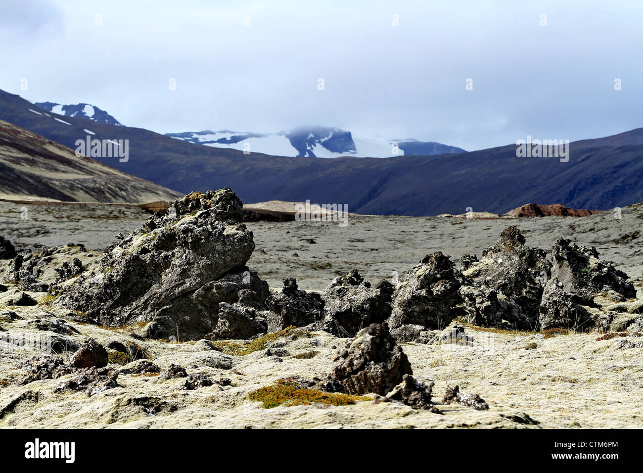Iceland, snaefellsnes peninsula Volcanic rock formations - Stock Image