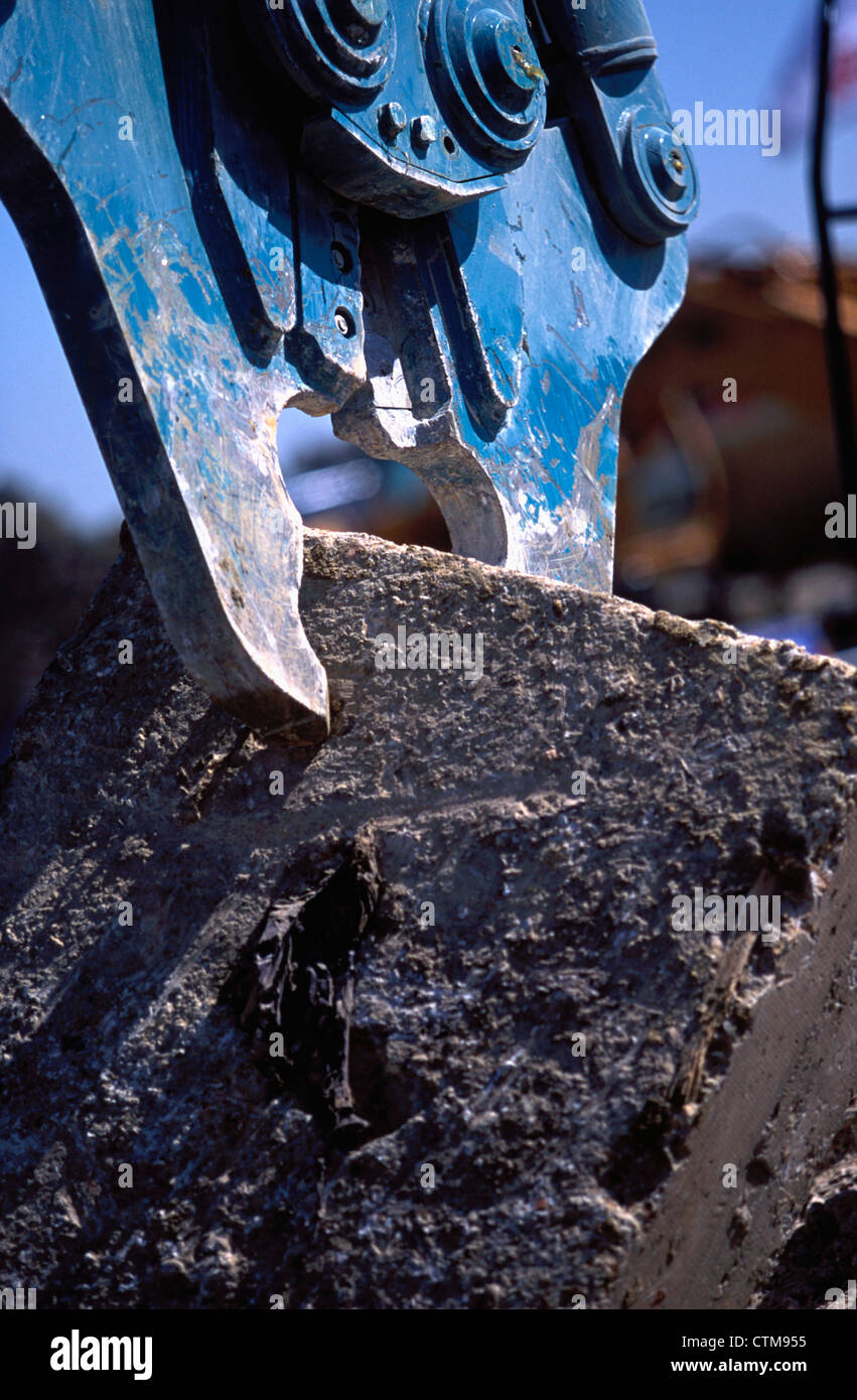 Detail of cutter attachment. - Stock Image