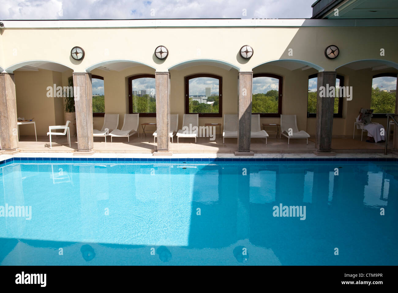 The Berkeley London rooftop pool, London, England, UK - Stock Image
