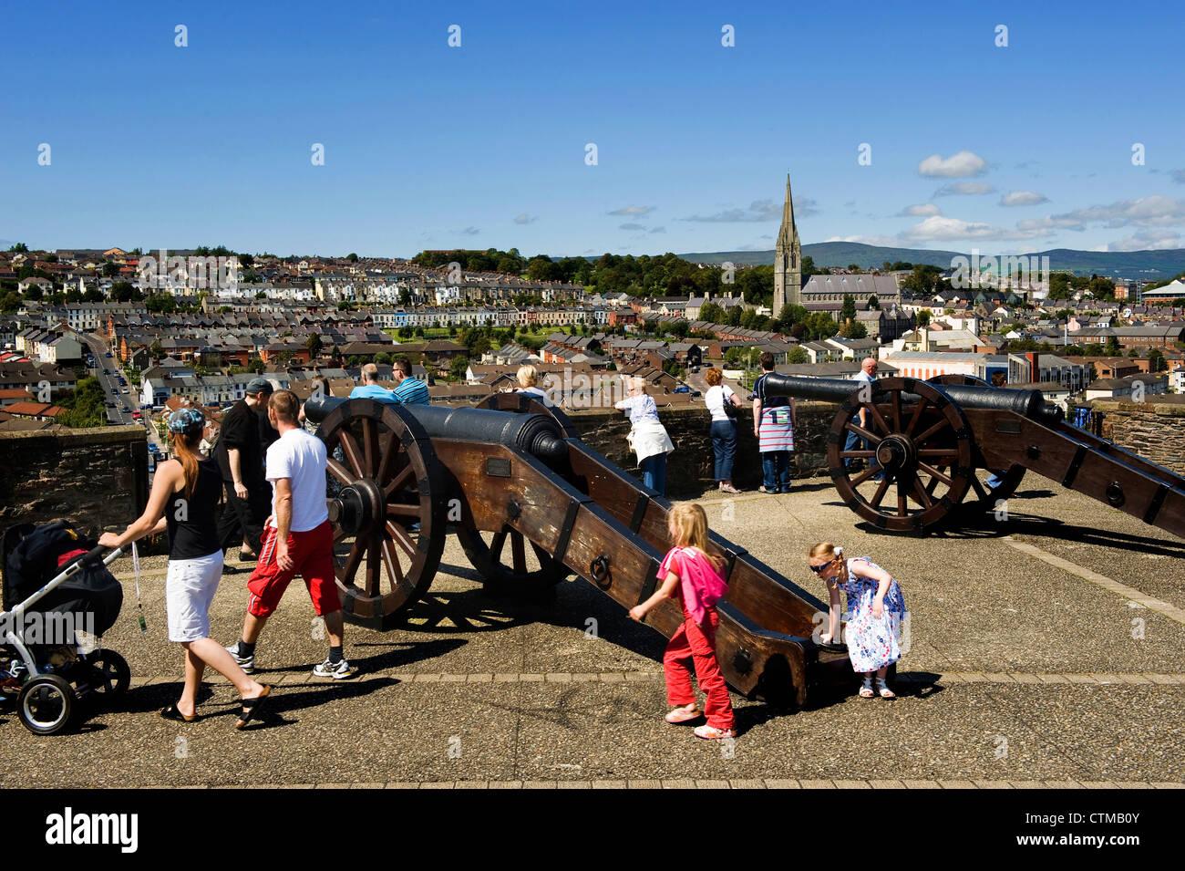 Derry's Walls, Northern Ireland - Stock Image