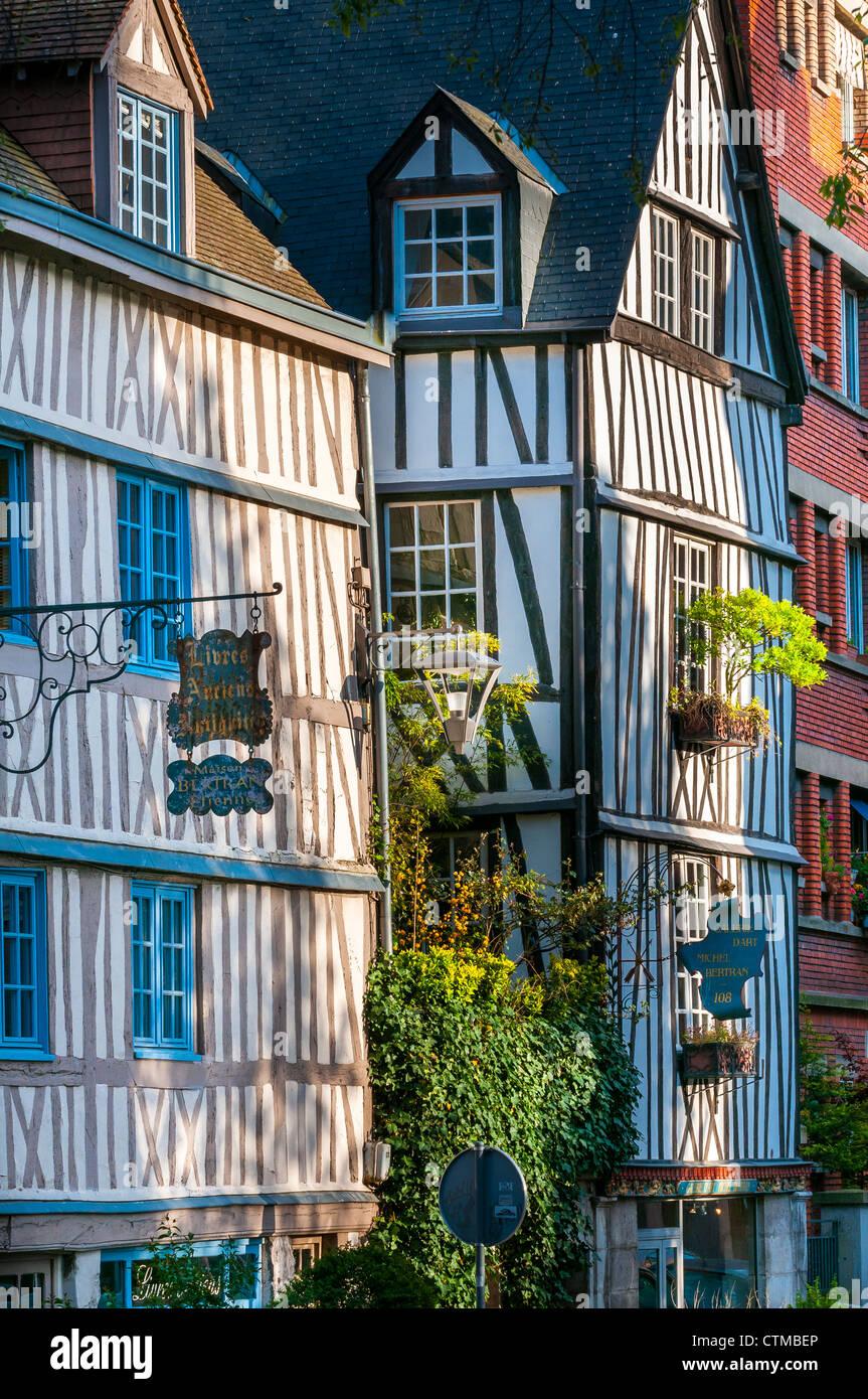 Rue Martainville, Rouen, France , Europe - Stock Image