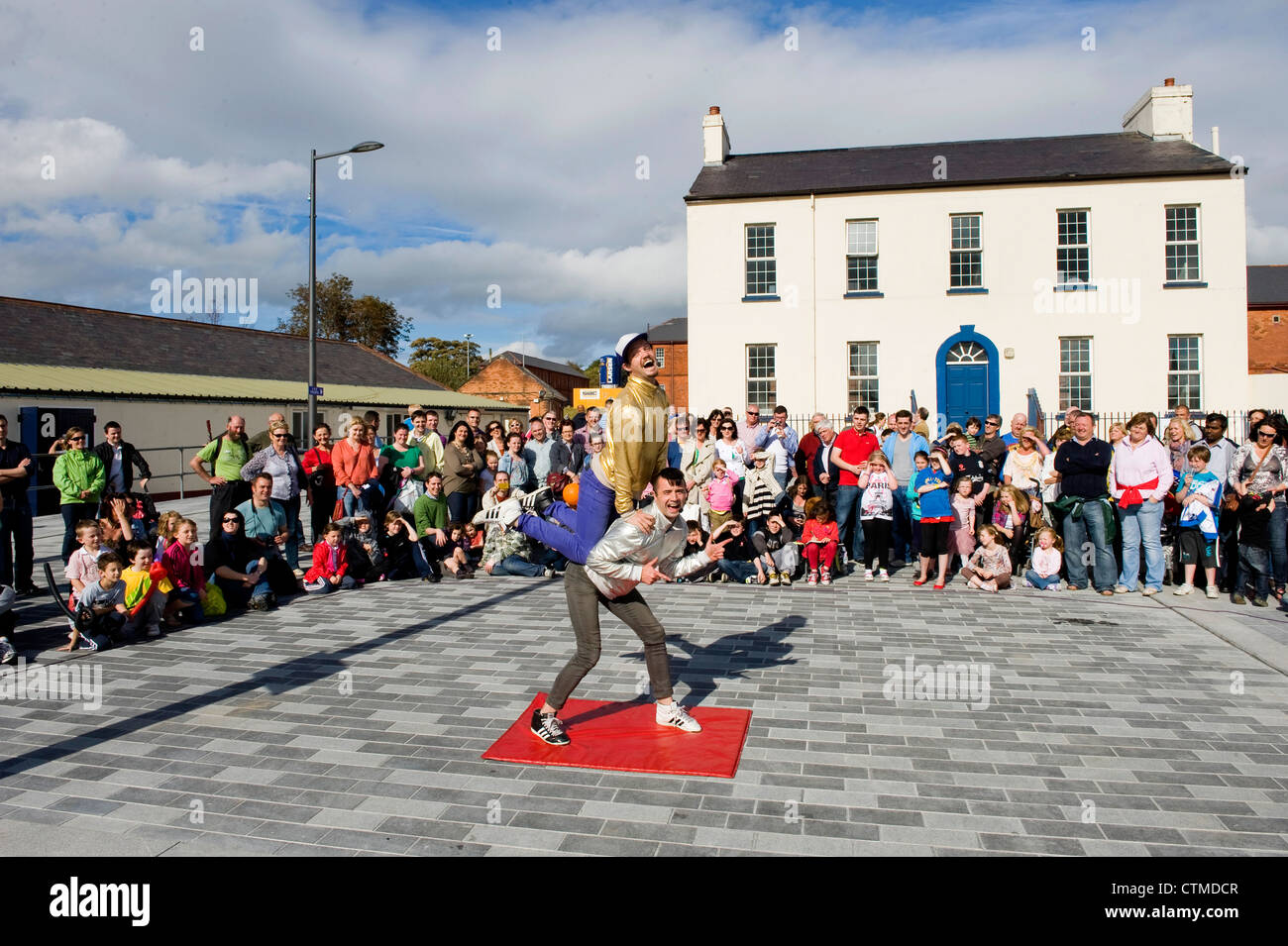 Ebrington Square, Derry, Northern Ireland - Stock Image