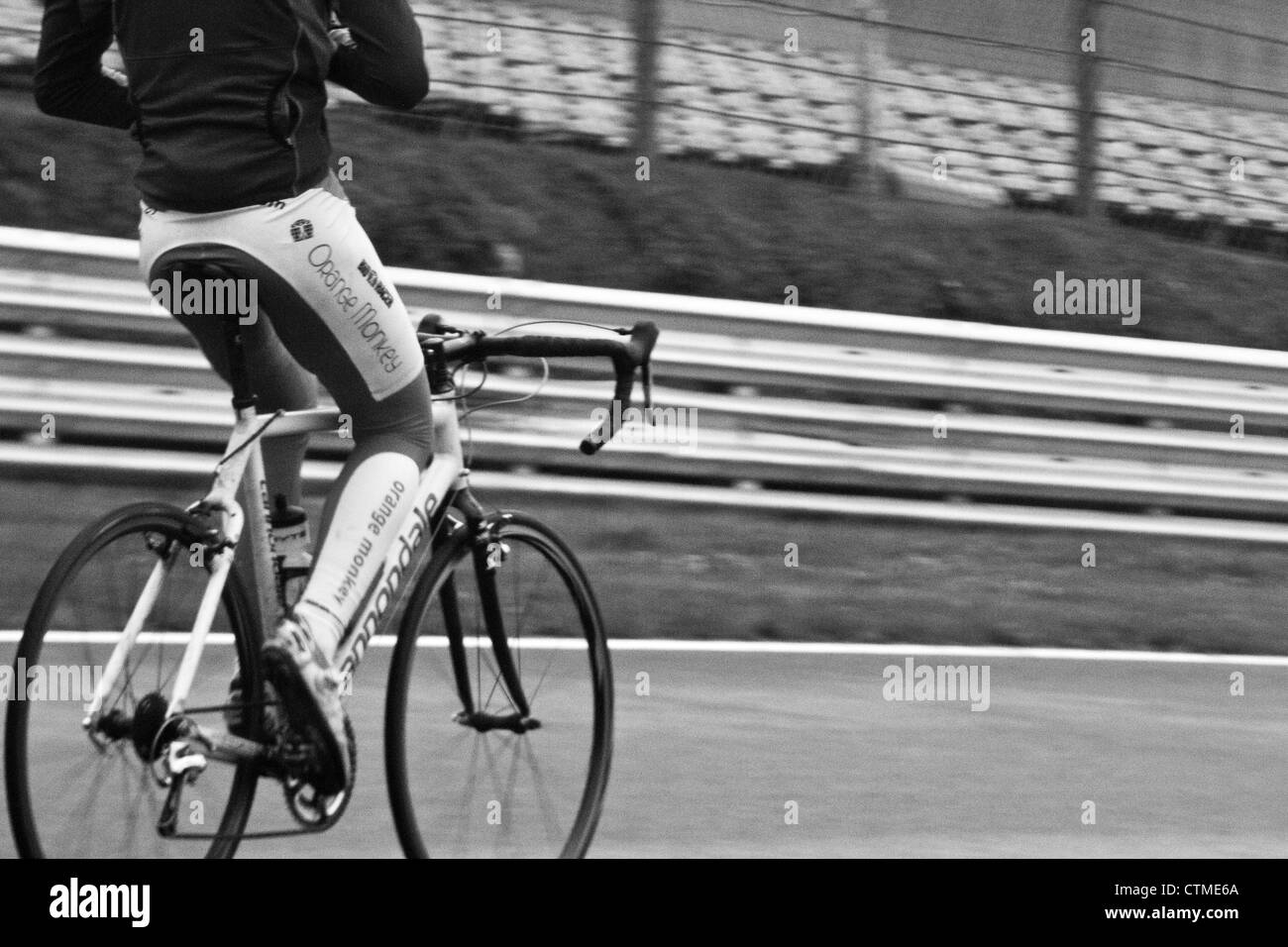 Time Trial Cyclist - Stock Image